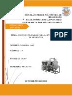 Equipos de Evaporacion Utilizados en La Industria Alimentaria