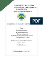 Importancia y desarrollo del trafico