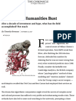 The Digital-Humanities Bust - The Chronicle of Higher Education