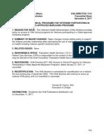 Veterans Affairs Medical Marijuana Policy