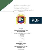 Informe Clasificacion Vial