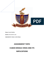 Cuban Missile Crisis and Its Implications