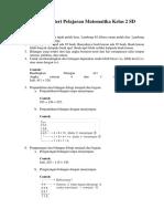 Materi Pelajaran Matematika Kelas 2 SD