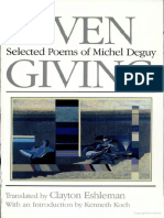 Michel Deguy-Given Giving_ Selected Poems of Michel Deguy-University of California Press (1989)