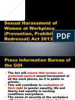 Sexual Harassment of Women at Workplace (Prevention