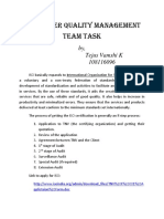 Quality Management Team Task