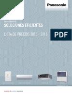 Tarifa Panasonic 2015