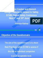 Survey on Cracker and Quench Design Features in respect to Safety