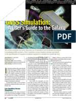 GNSS Simulation a User's Guide to the Galaxy