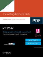CV Writing & Interviewing Skills UoAJK