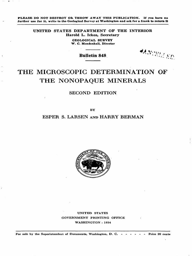 e5412672bd5 Microscopc Determination of Nonopaqe Minerals | Refractive Index |  Dispersion (Optics)