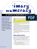 Primary Numeracy Australian Research