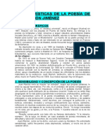 Características de La Poesia de Juan Ramón Jiménez
