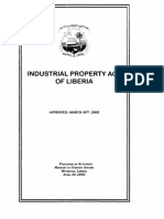 Liberia Industrial Property Law English