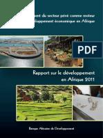 Rapport Sur Le Développement en Afrique 2011