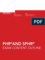 Phr Sphr Exam Content Outline