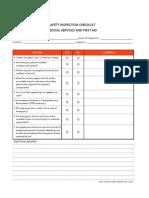026 First Aid Checklist