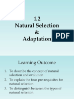 lecture 3 - natural selection and adaptation