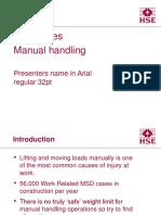 Manual Handling 1