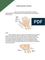 anatomi pergelangan tangan
