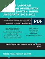 Analisis Laporan Keuangan Pemerintah Daerah Banten Tahun Anggaran
