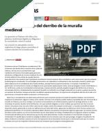 Un Siglo y Medio Del Derribo de La Muralla Medieval . Las Provincias
