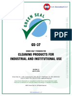 Appendix D - Green Seal Standards for Cleaning Services