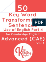 C1 Esential 50 Word Transformation
