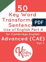 C1 Esential 50 Word Transformation