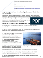 Ship-To-ship Transfer _ Operational Guideline and Check Item for Oil Tankers