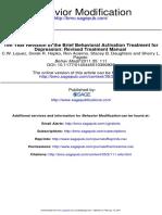 2011 Ten Year Revision of the Brief Behavioral Activation Treatment for Depression Revised Treatment Manual Lejuez Et Al (1)[1]