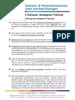 Autogenes Training Anleitung Und Uebungen