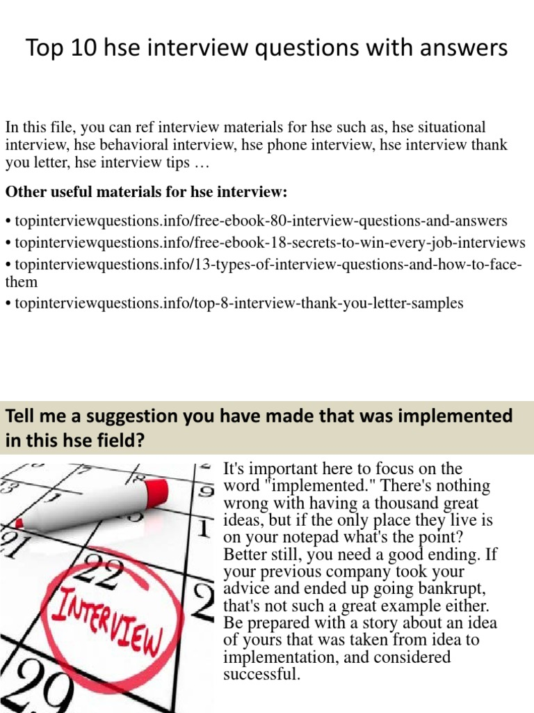 Top10 Hse Interviewquestions With Answers