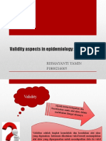Validity Aspects in Epidemiology Studies