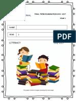 Final Term 2017 Literacy Y1
