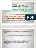 SESPRI UNSA 2013 Tema IV Procedimientos