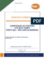 Modelo 2018 Proposta Comercial Nº 032-2017_rev. 00_ Construção de Canteiro Ute_novo Tempo