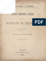 1894.Division Territorial Escolar de La Republica de Costa Rica