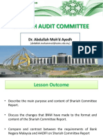 Shariah Audit - Lecture 5 (Sha Audit Comt)