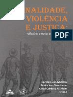 Criminalidade Violência e Justiça - E-BOOK