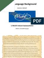 Michif Language Background
