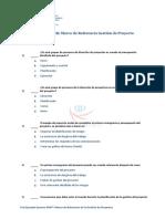 Test Ejemplo Pmp Marco Referencia Gestion de Proyectos