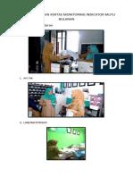 Foto Penyerahan Kertas Monitoring Indicator Mutu Bulanan
