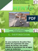 DIAPOS - CEMENTO