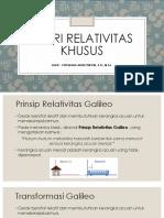 Bab 1. Teori Relativitas Khusus