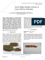 In Vitro Evaluation of Alpha Amylase Activity of Bark Extracts of Ficus Auriculata