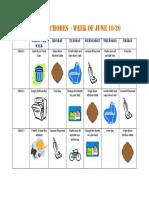 Summer Chore Chart