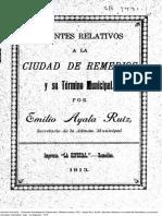 Ayala Ruiz Remedios y Jurisdicción 1913