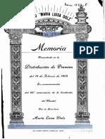 Colegio Maria Luisa Dolz, Memoria Del Curso 1904