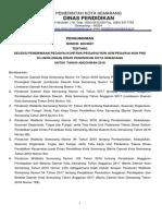 Pengumuman Seleksi Pegawai Kontrak 2018
